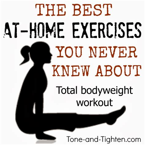 weekly workout plan at home workouts with no weights
