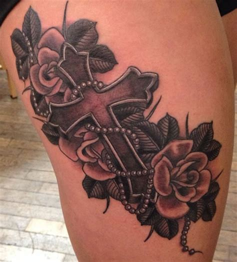 cross and roses tattoos clay cole s portfolio empire newark