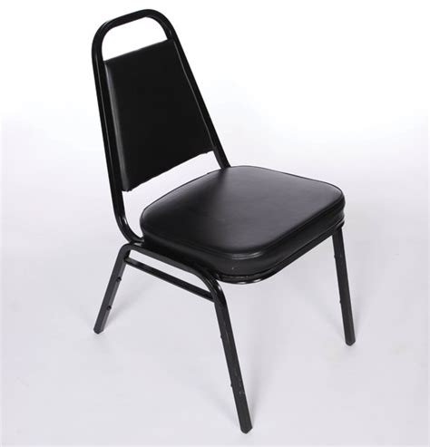 black padded stacking chairs united rent  omaha