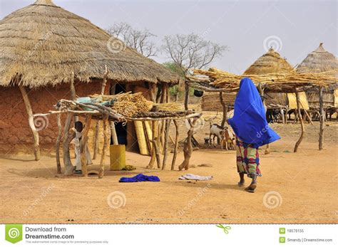 traditional african village houses editorial image image