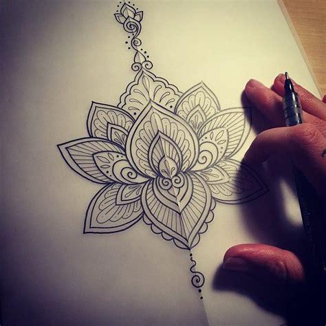 mandala tattoo stencil beautiful stencil tattoo of mandala flower