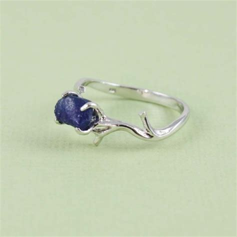 sterling silver blue sapphire ring gemstone ring