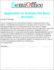 request letter to reopen bank account