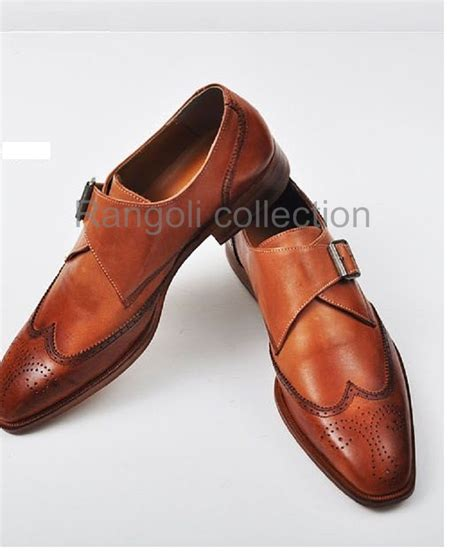 Handmade Leather Shoes Indonesia - handmade color dress shoes mens leather monk