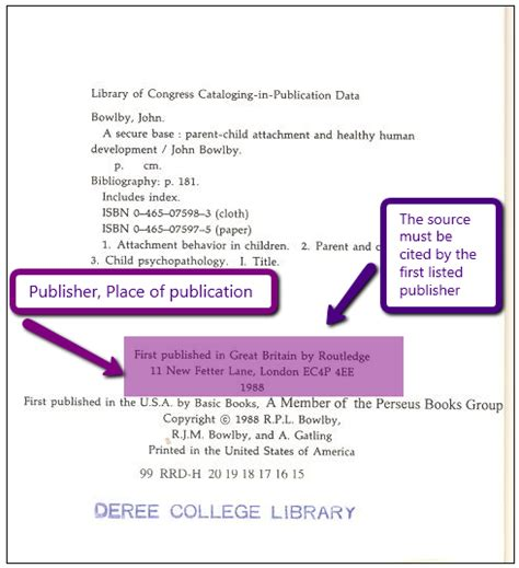 How To Find On By City Books Apa Style Citations S Bailey Library At
