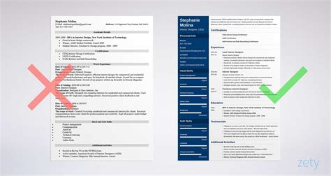 Resume For Designer by Interior Design Resume Sle And Complete Guide 20