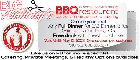printable restaurant coupons okc big anthonys bbq restaurant coupon print coupon king