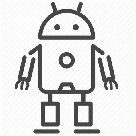 ai for android ai android artificial intelligence cyborg humanoid robot robotics icon icon search engine