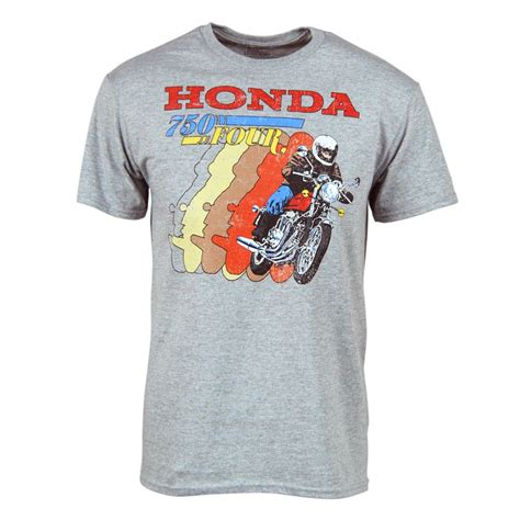 S S T Shirt mens retro honda t shirt grey