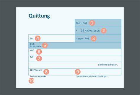 Word Vorlage Quittungsblock Quittung Convictorius