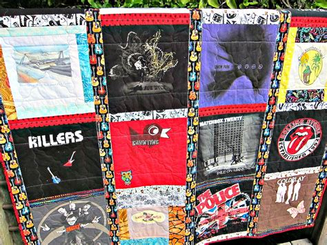 Quilting At Shirt Quilt by The Quilting Violinist Finished T Shirt Quilt