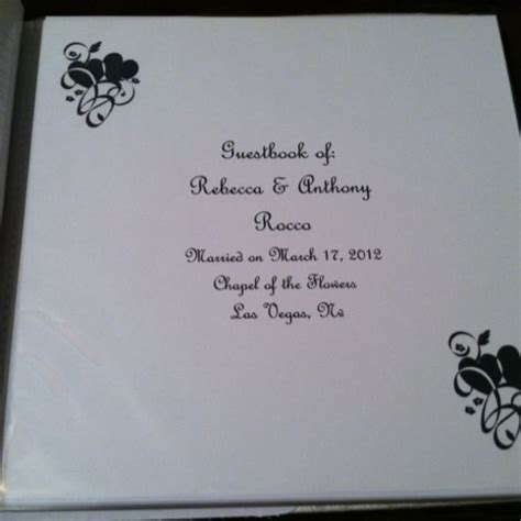 Wedding Guest Book Cover Page by Guestbook I Made In Word Weddingbee Photo Gallery