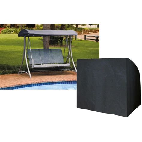 cover swing 3 seater swing seat cover black