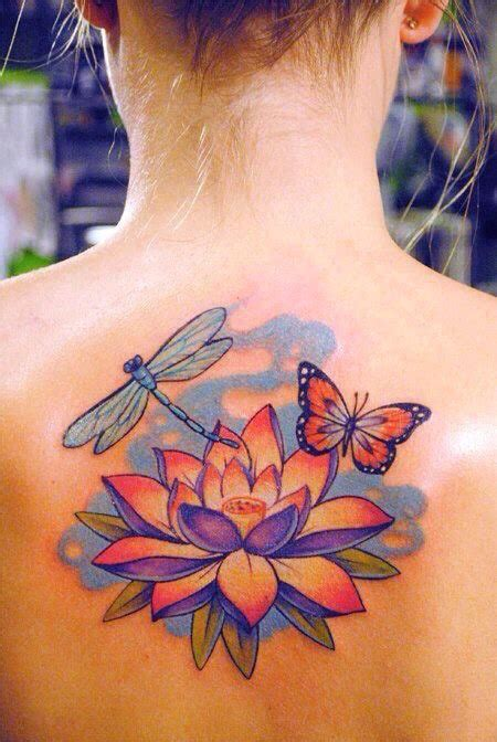 lotus tattoo with butterfly 37 traditional lotus tattoos ideas