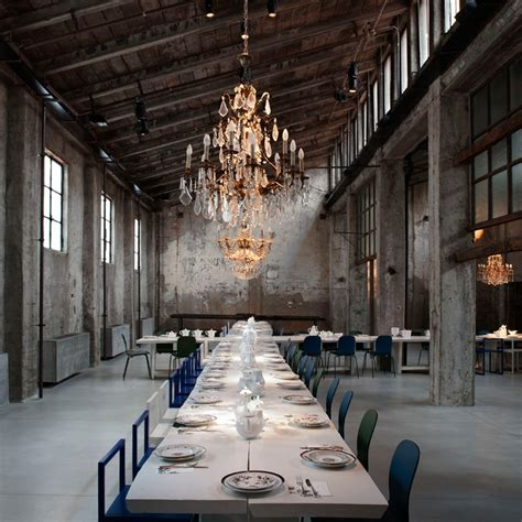 Contemporary Industrial carlo e camilla brings restaurant elegance to a factory