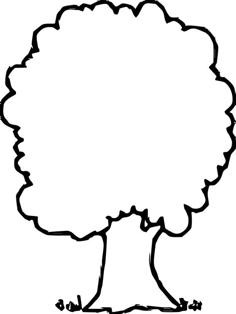 simple empty apple tree coloring page wecoloringpage