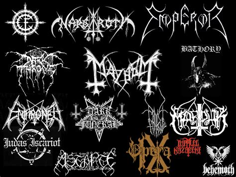 Black Metal Logos by krios3 on DeviantArt