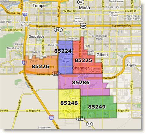 arizona zip code map arizona zip code boundaries