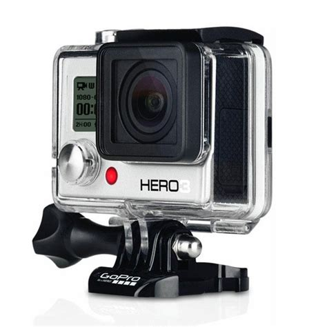 gopro digital c 226 mera digital gopro hero3 white edition prata