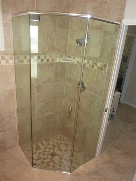 Shower Door Header Neo Angle Frameless Header Traditional Bathroom San Luis Obispo By C S Shower Door Inc