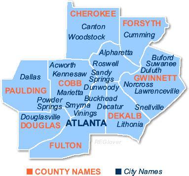 Atlanta County Map by Atlanta Real Estate