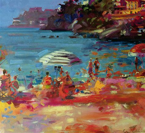 layout artist in french monaco coast painting by peter graham