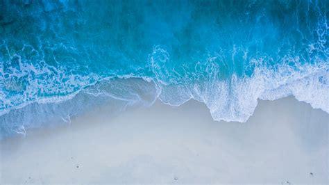 wallpaper beach sea shore blue waves hd  nature