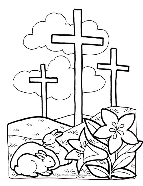 coloring page easter jesus easter colouring