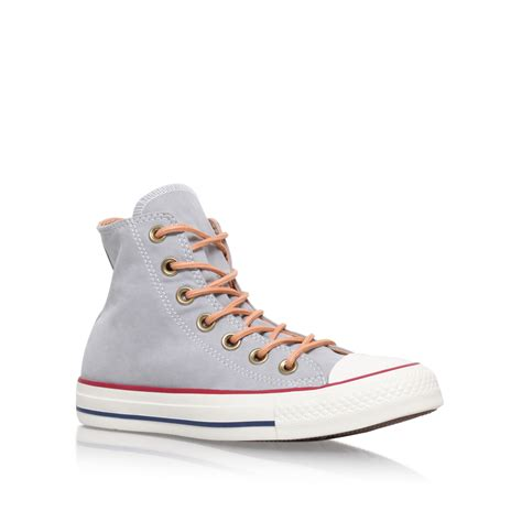 Converse Hi Gray converse ct peached canvas hi in gray grey lyst