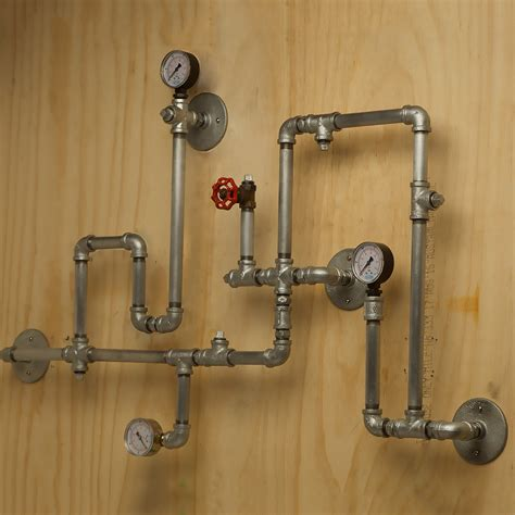 Plumbing Hardware by Industrial Plumbing Pipe Wall