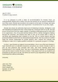 letter of recommendation for graduate school from