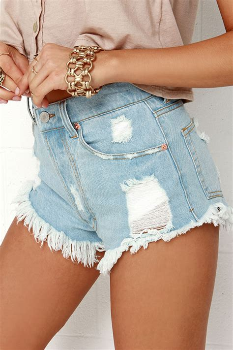 the laundry room shorts laundry room pistols shorts light wash shorts high waisted shorts 95 00