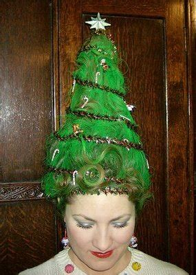 cute  crazy christmas tree party hairstyles ideas