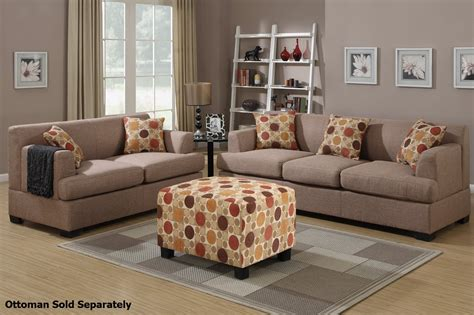 fabric sofa and loveseat poundex montreal f7968 f7967 beige fabric sofa and