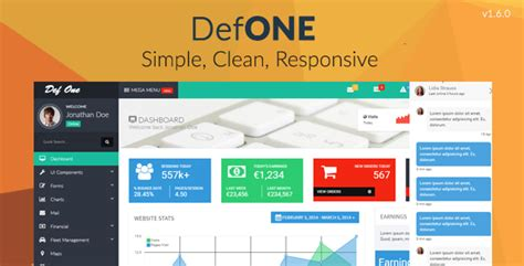 bootstrap themes mit defone responsive bootstrap 3 admin template by