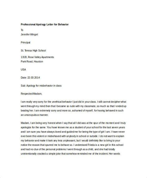 professional apology letter 17 free word pdf format