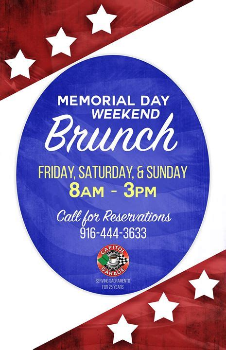 Capitol Garage Brunch by Memorial Day Weekend Brunch Capitol Garage