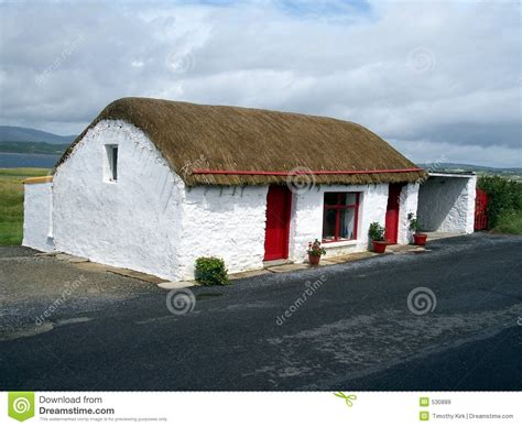 Thatched Cottage Donegal by Thatched Cottage Co Donegal Ireland Stock Image Image