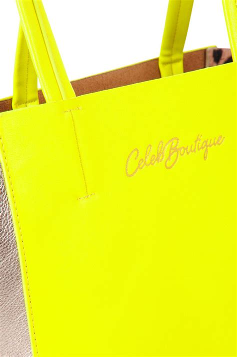 Bright Yellow Accessories by Accessories B Obsessed Bright Yellow And Silver Tote Bag