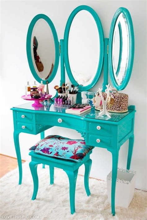 organized vanity vanity organization girly cute makeup vanity teal organize