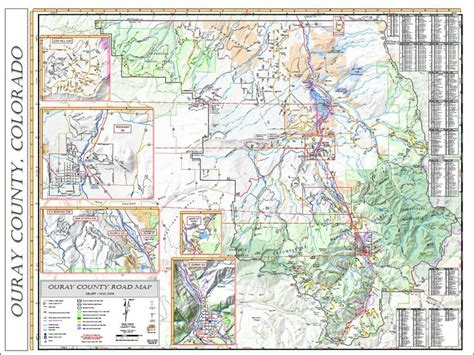 ouray county road map colorado counties