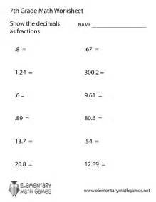 7 grade worksheets pichaglobal