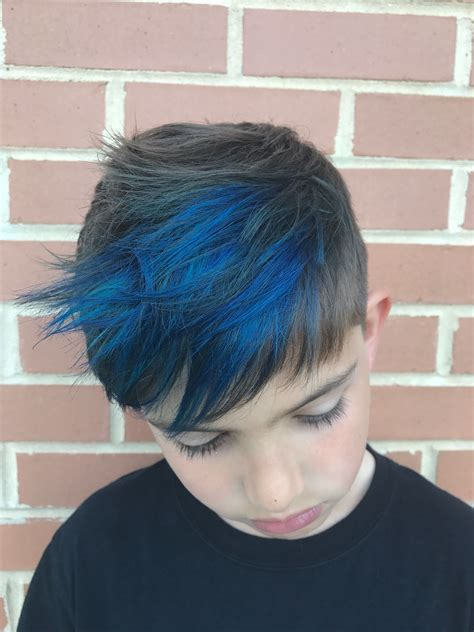 boy color with blue boy blue highlights hair hair hair and more hair in 2019