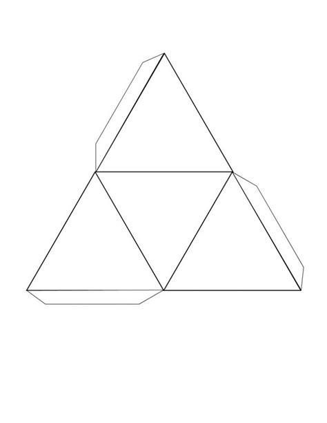 printable 3d net shapes free free printable 3d shape nets triangular learning printable