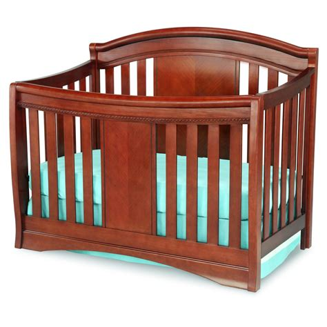 The Crib by Delta Children Elite 4 In 1 Convertible Crib Cabernet
