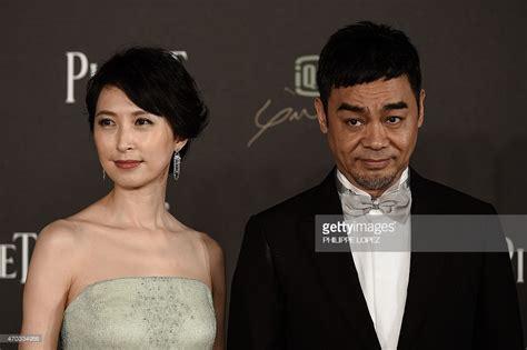 hong kong british actor hong kong actor sean lau and his wife amy kwok pose on the