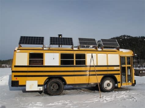 Dwell Floor Plans Skoolie Solar Panels Camping Pinterest