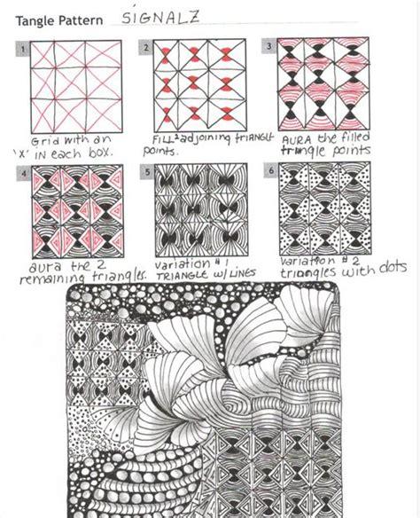 zentangle pattern directory how to draw signalz 171 tanglepatterns com zentangle