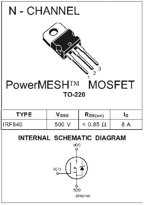 Transistor Mosfet Irf630n Irf 10 transistor mosfet irf840 irf 840n melhor pre 231 o r 22 99 em mercado livre