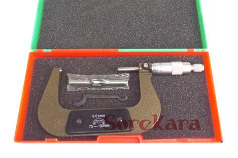 metric outside micrometer 75 100mm 0 01mm test